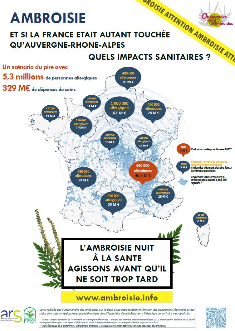 Ambroisie : les impacts sanitaires
