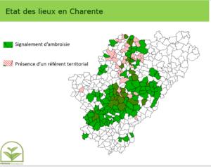 Etat des lieux de l'ambroisie en Charente
